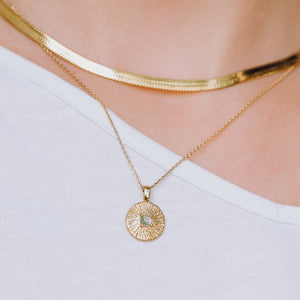 Sun Coin Necklace