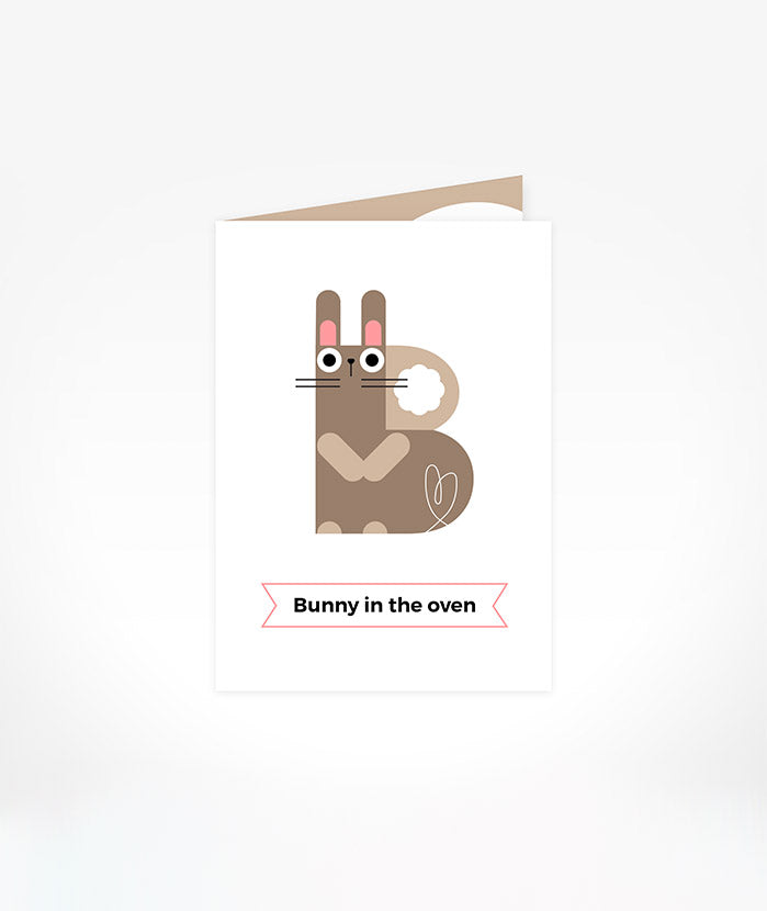 Greeting Card: Bunny In The Oven