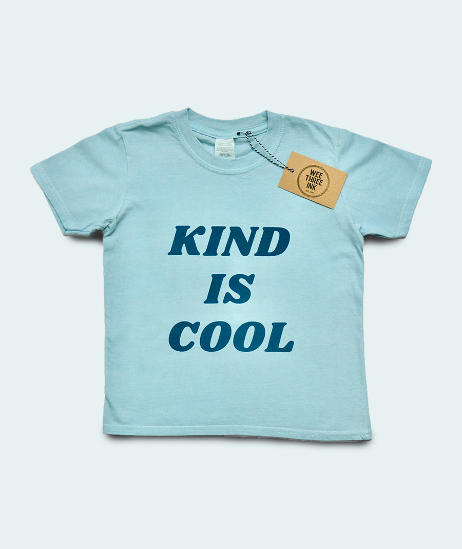 Kind is Cool Kid's T-shirt - Blue