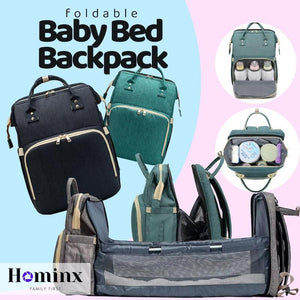 Diaper Backpack With Changing Bed