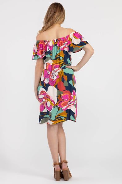 Tribal Femme Bold Floral Dress