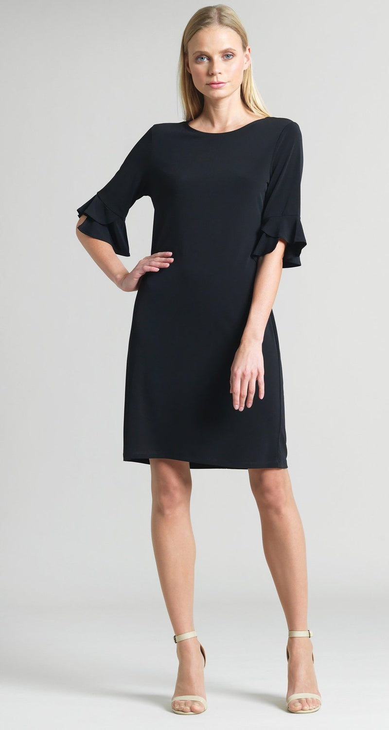 Clara Sunwoo Black Knit 3/4 Sleeve Dress