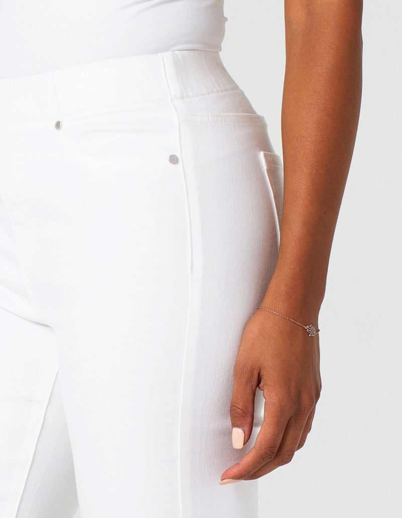 Liverpool Chloe Crop Denim White