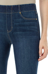Liverpool Chloe Crop Denim Dark Wash