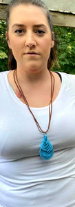 Blue Macrame Wrap Necklace