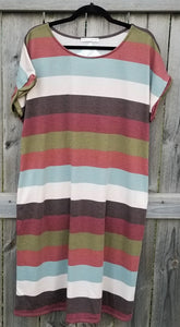 Bold Stripe Dress with Pockets