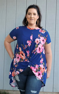 Hi-Lo Floral Tunic Top
