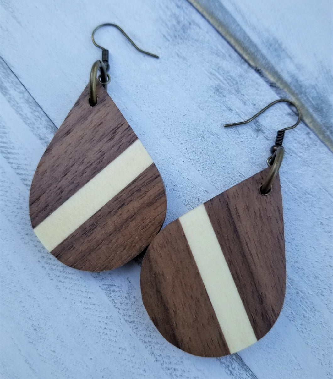 Walnut Teardrop Earrings