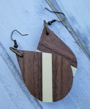 Load image into Gallery viewer, Walnut Teardrop Earrings