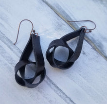 Load image into Gallery viewer, Faux Leather Knot Earrings