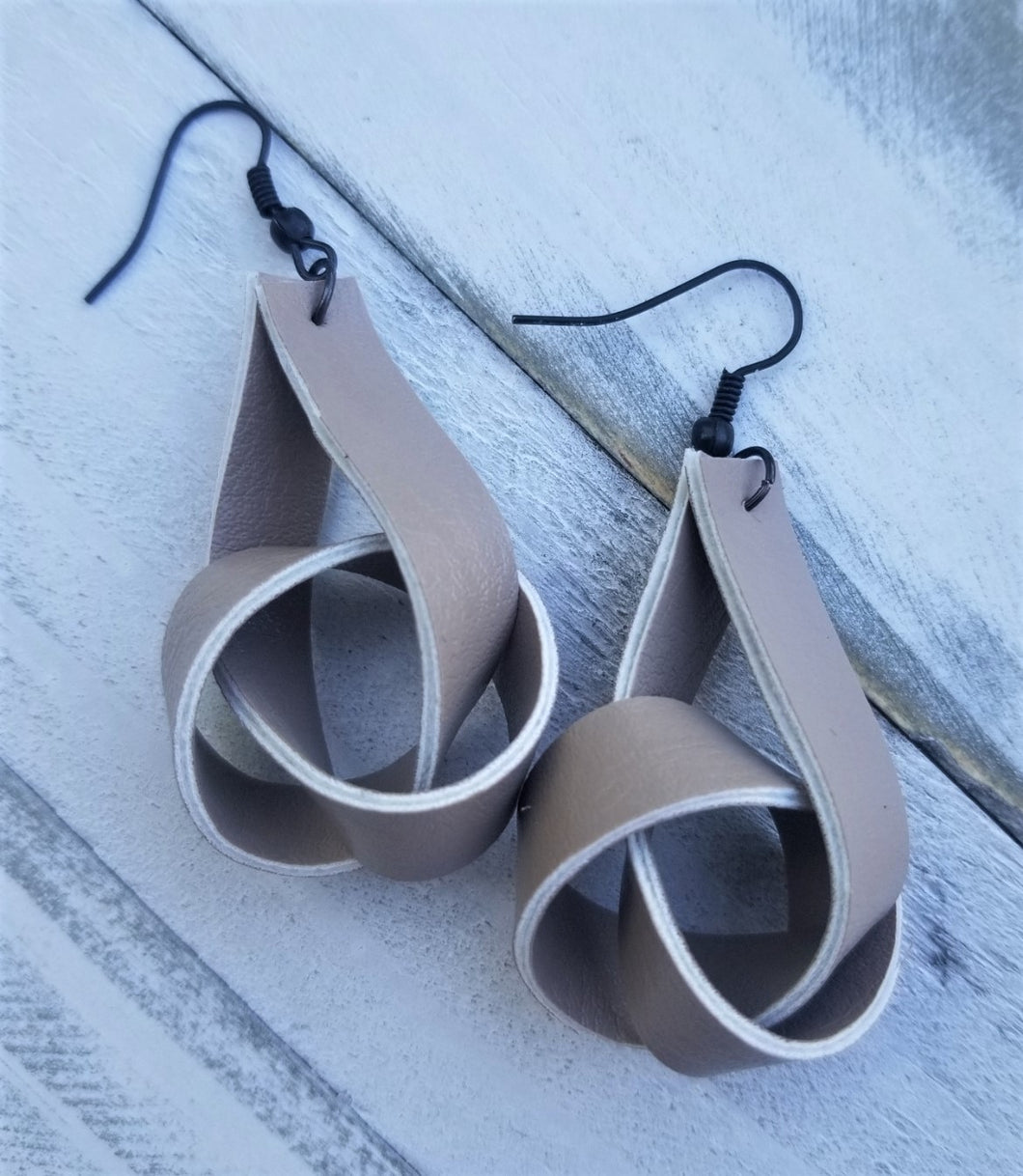 Faux Leather Knot Earrings