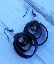 Load image into Gallery viewer, Faux Leather Spiral Earrings