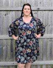 Load image into Gallery viewer, Puff Sleeve Paisley Dress