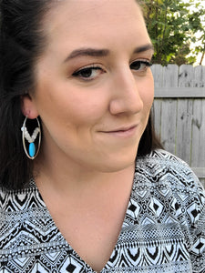 Turquoise Pop Hoops