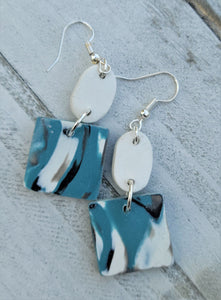 Tranquility Block Earrings