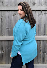 Load image into Gallery viewer, Dusty Teal V-Neck Sweater