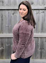 Load image into Gallery viewer, Chenille Plum Sweater