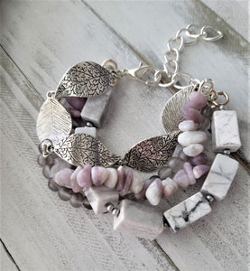 Howlite and Lilac Stacked