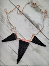 Load image into Gallery viewer, Matte Black Woven Necklace