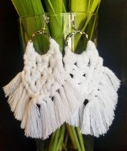 Load image into Gallery viewer, White Magic Knot Earrings