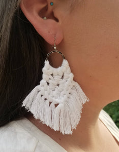 White Magic Knot Earrings