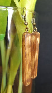 Hard Wood Walnut Small Earrings