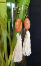Load image into Gallery viewer, Natural Beaded Tassel Earrings