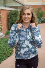 Load image into Gallery viewer, Flirty Camo Half Zip Hoodie