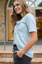 Load image into Gallery viewer, Slouchy Pocket Tee | Ice Blue
