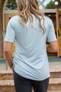 Slouchy Pocket Tee | Ice Blue