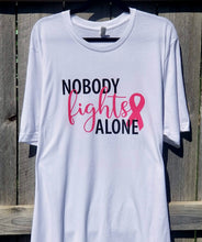 Load image into Gallery viewer, Nobody Fights Alone Tee