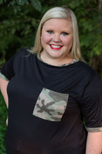 Load image into Gallery viewer, Camo Pop Tee | Black