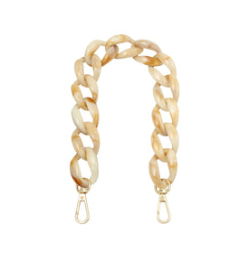 SHORT BAG STRAP 'CHAIN' IVORY