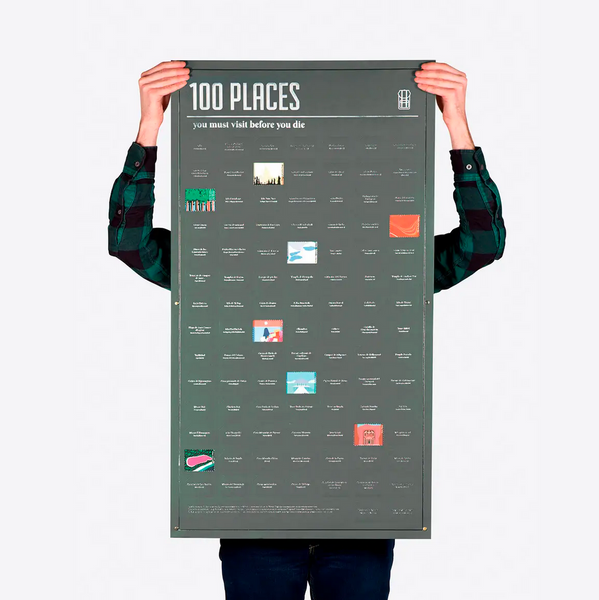 100 Places You Must Visit Poster