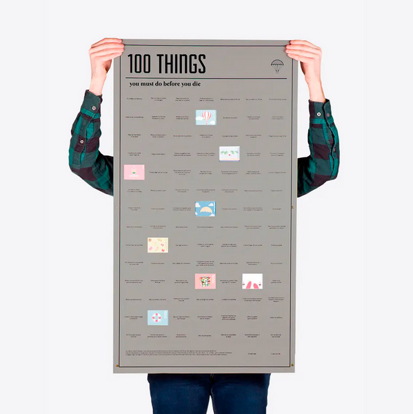 100 Things You Must Do Poster