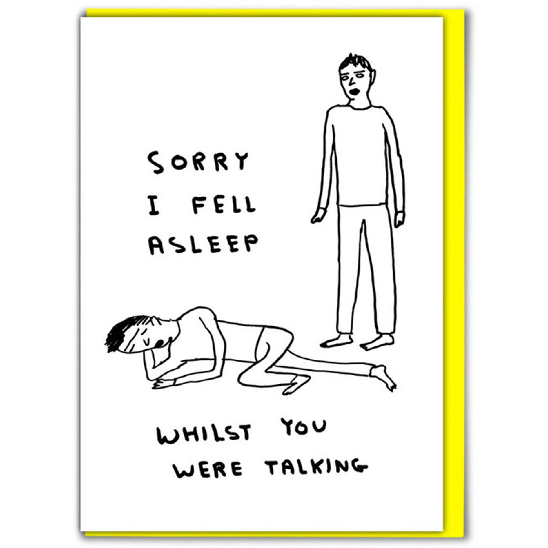 Sorry I Fell Asleep Card