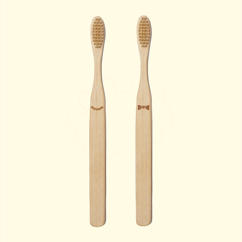 Hers & His Bamboo Toothbrush Set
