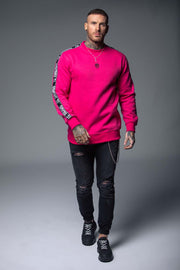 Fuscia TC Tape Sweater