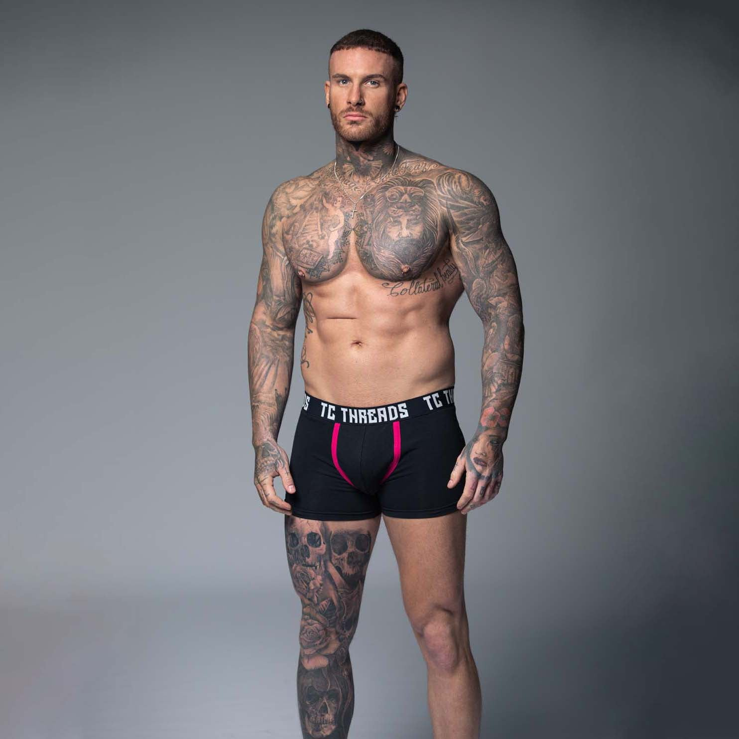 Eros Boxers - Black and Pink