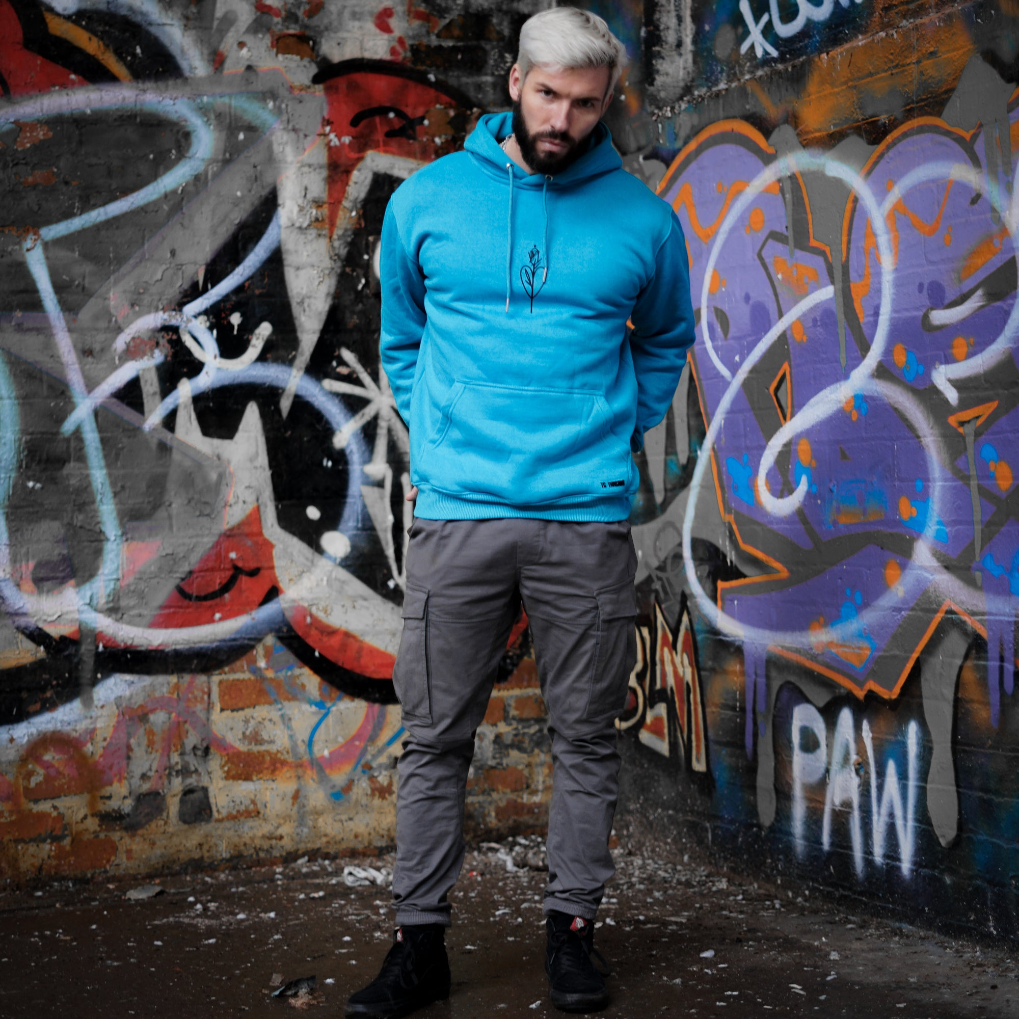 Scorpion Kiss - Blue Pull Hoody