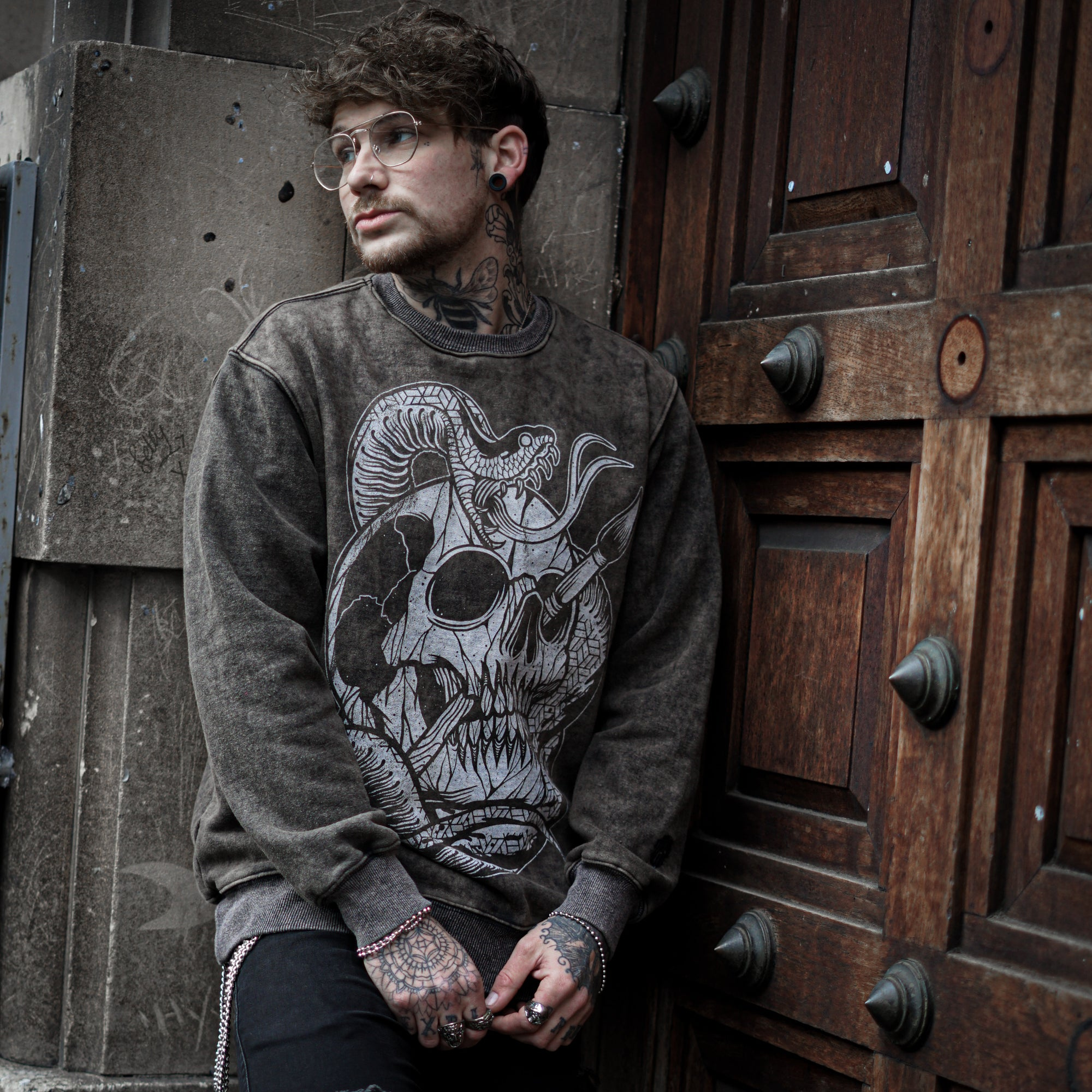 The Duchess of Malfi - Acid Wash Sweater