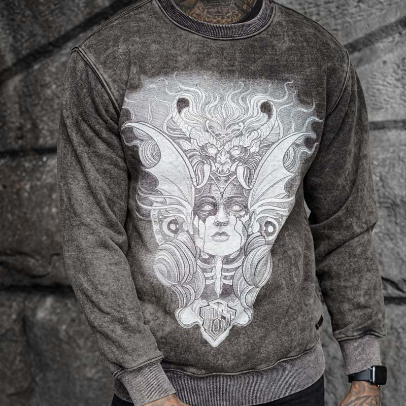 Medea Acid Wash Sweater