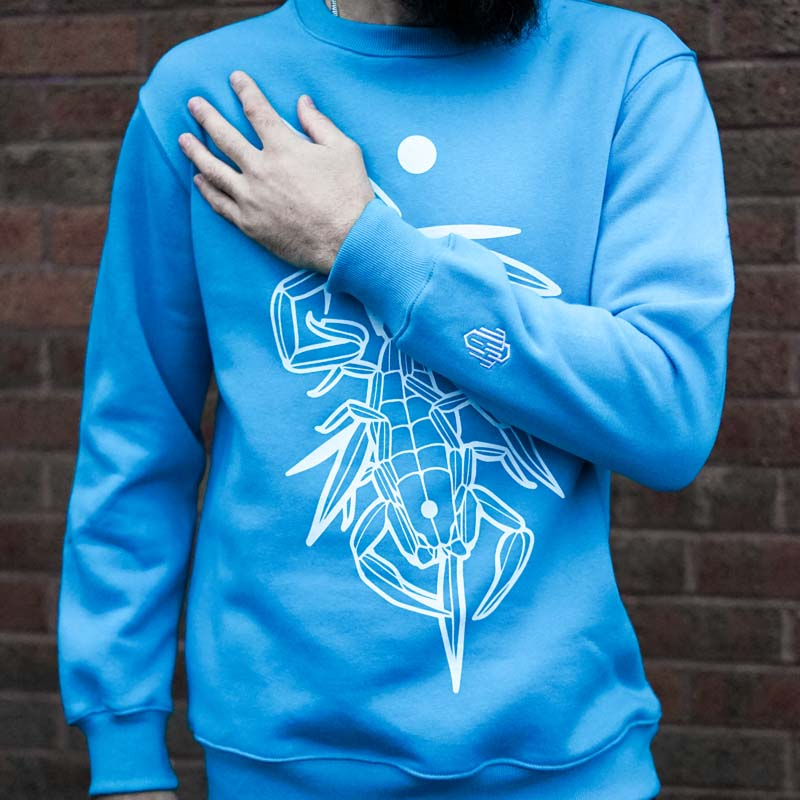 Scorpion Kiss Blue Sweater