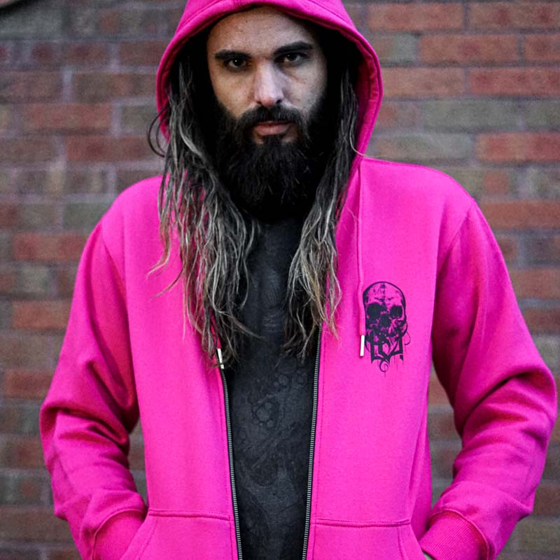 Mother Creation Pink Zip Hoodie