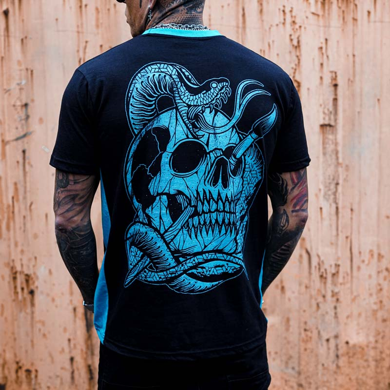 The Duchess of Malfi Black and Blue Tee