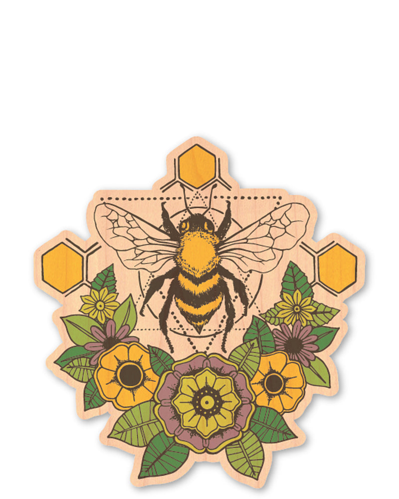 bee bottle tat™ (wood sticker!)