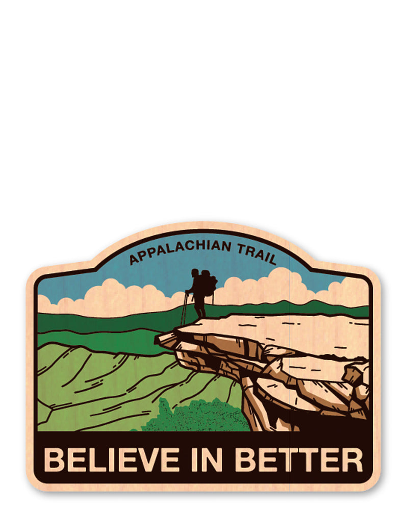 believe in better bottle tat™ (wood sticker!)