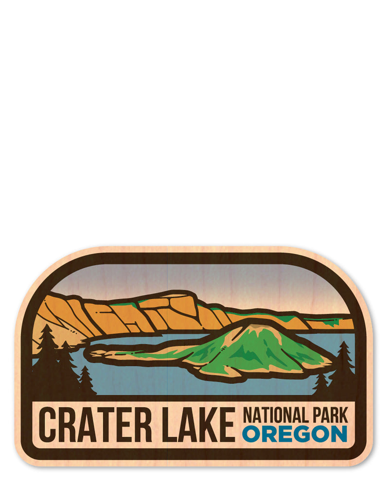 crater lake bottle tat™ (wood sticker!)