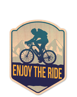 enjoy the ride bottle tat™ (wood sticker!)
