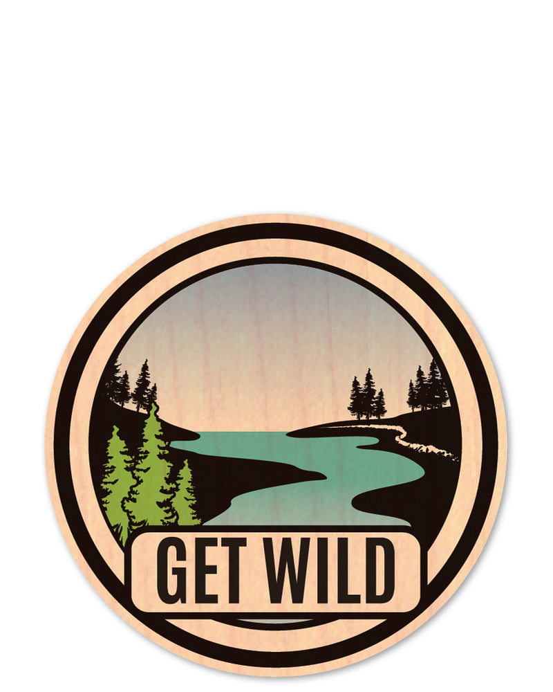 get wild bottle tat™ (wood sticker!)